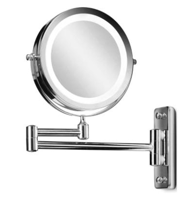 Gillian Jones Wall Mirror with Arm & Lights