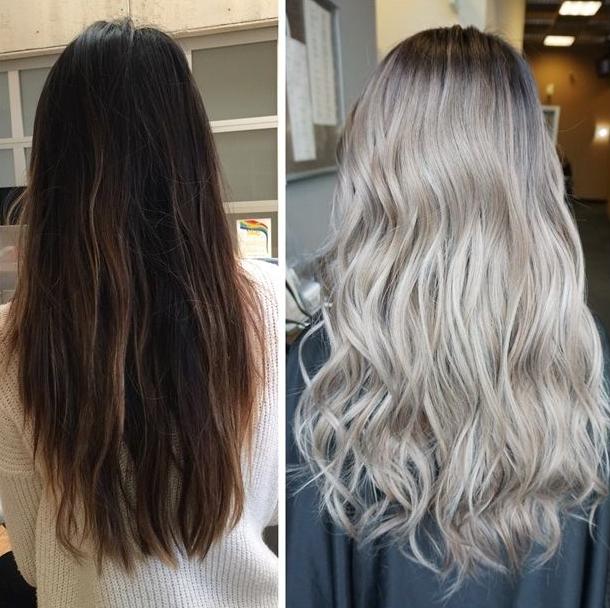 blond toning på blekt hår